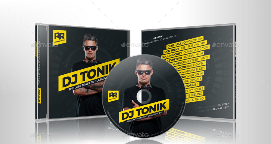 Prodj - Dj Mix / Album Cd Cover Artwork Psd Template By Vinyljunkie