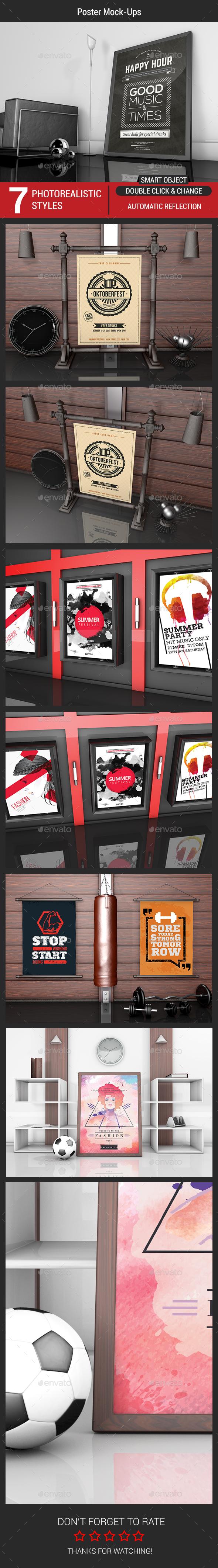 Poster Mock-Ups - Posters Print