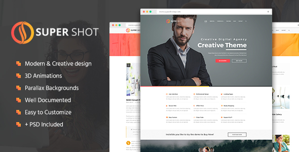 SuperShot - Creative HTML Template - Creative Site Templates