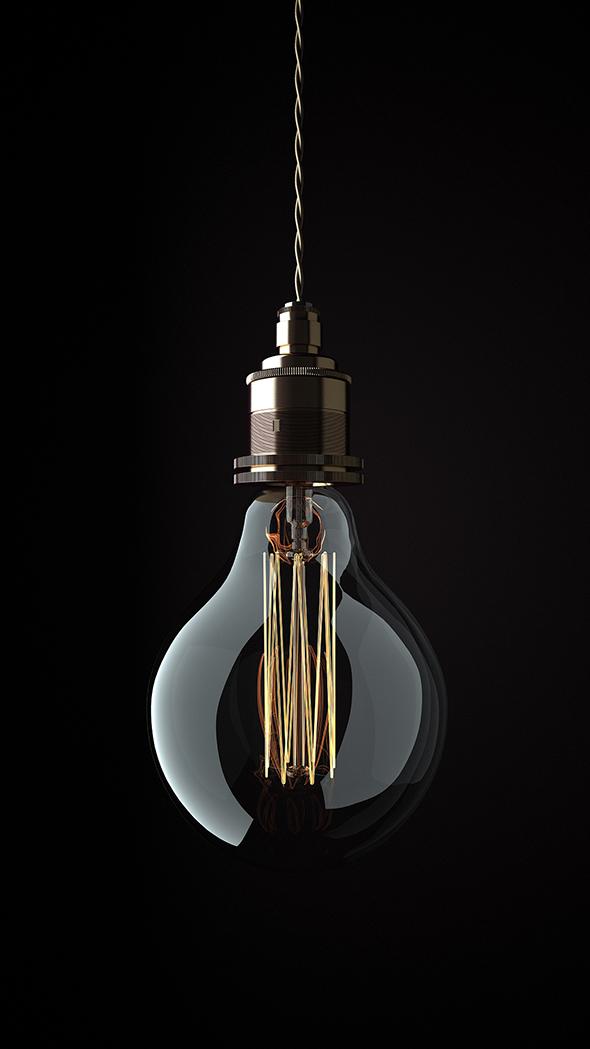 Edison Light Bolb - 3DOcean Item for Sale