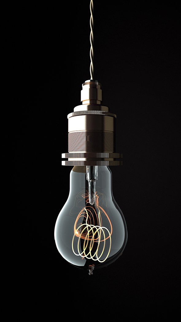 Edison Light Bolb - 3DOcean Item for Sale