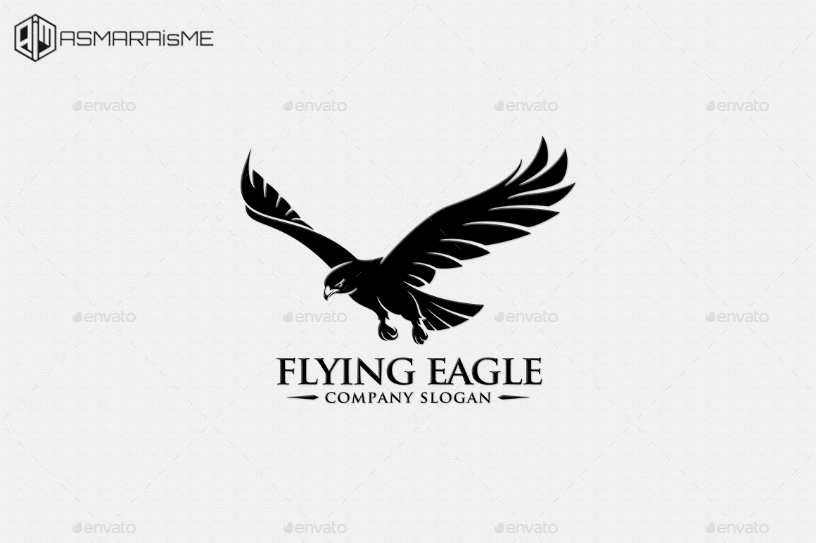 Flying eagle logo template by asmaraisme graphicriver preview setpreview setg altavistaventures Image collections
