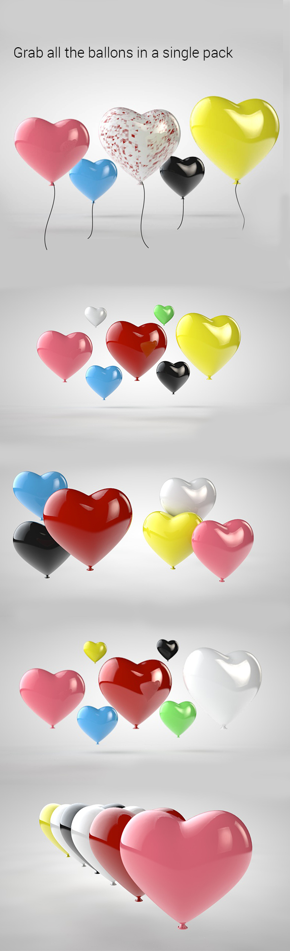 Heart Baloon - 3DOcean Item for Sale