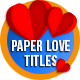 Paper Love Titles - VideoHive Item for Sale
