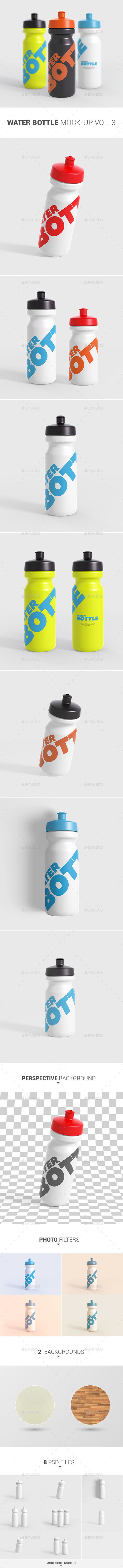 Water Bottle Mock-Up Vol. 3 - Food and Drink Packaging