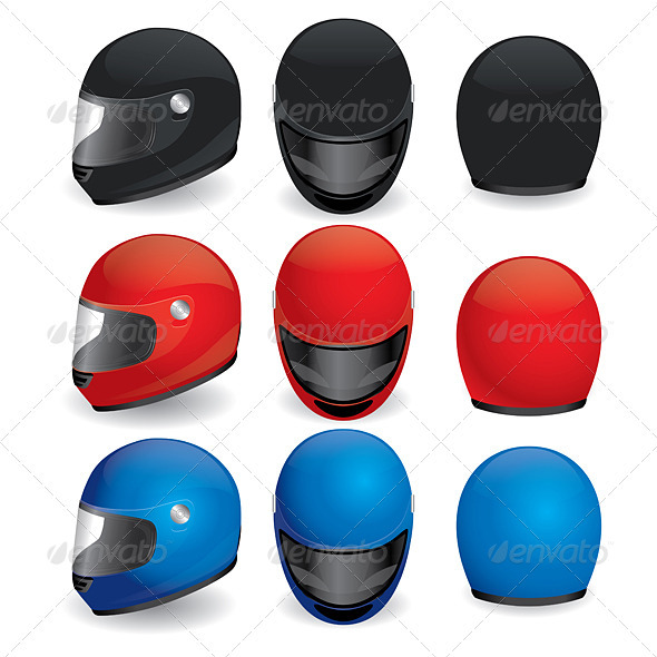 Motorcycle helmet - Man-made Objects Objects