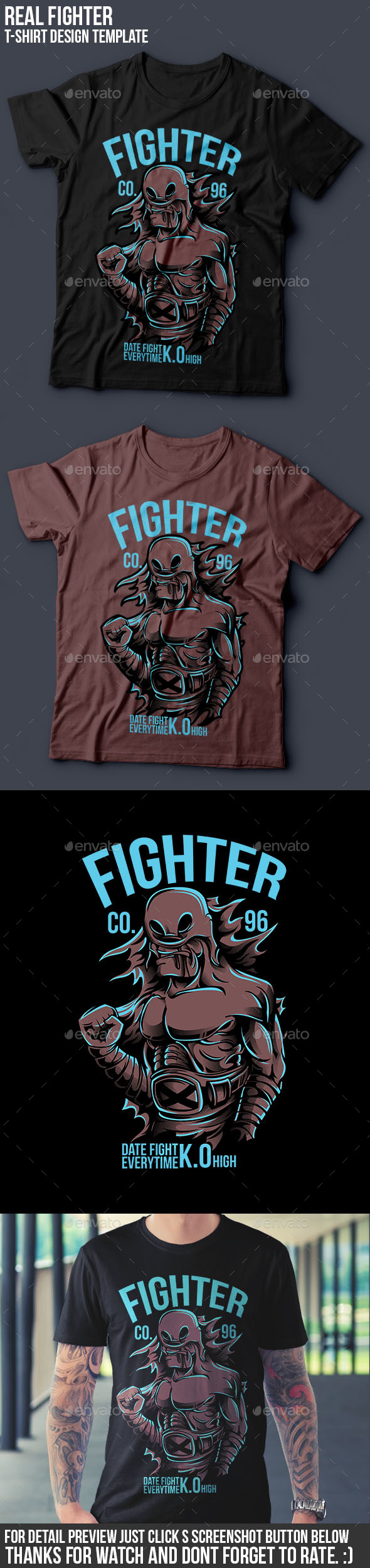 Real Fighter - Sports & Teams T-Shirts