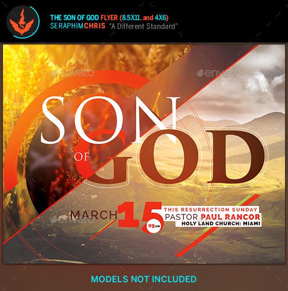 Son of God Church Flyer Template - Church Flyers