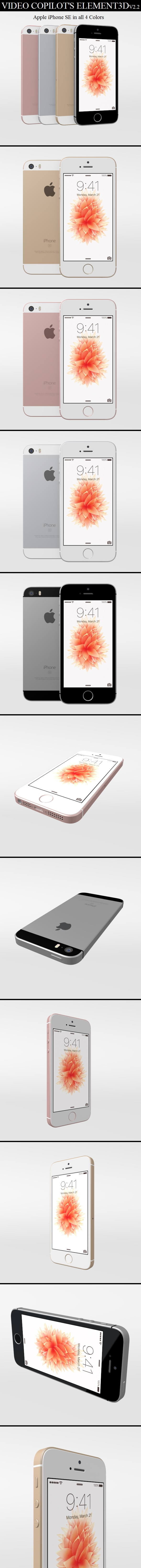 Element3D - iPhone SE - 3DOcean Item for Sale