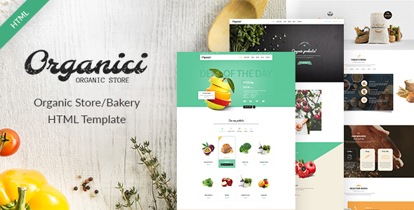 Organici - Organic Store/Bakery eCommerce Template - Food Retail