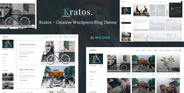 Kratos – Creative WordPress Blog Theme