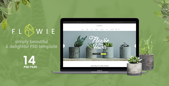 Flowie - Gardening & Home Decoration Shop PSD Template - Retail PSD Templates