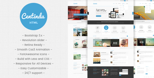 Centindu - Multipurpose HTML5 Template - Business Corporate