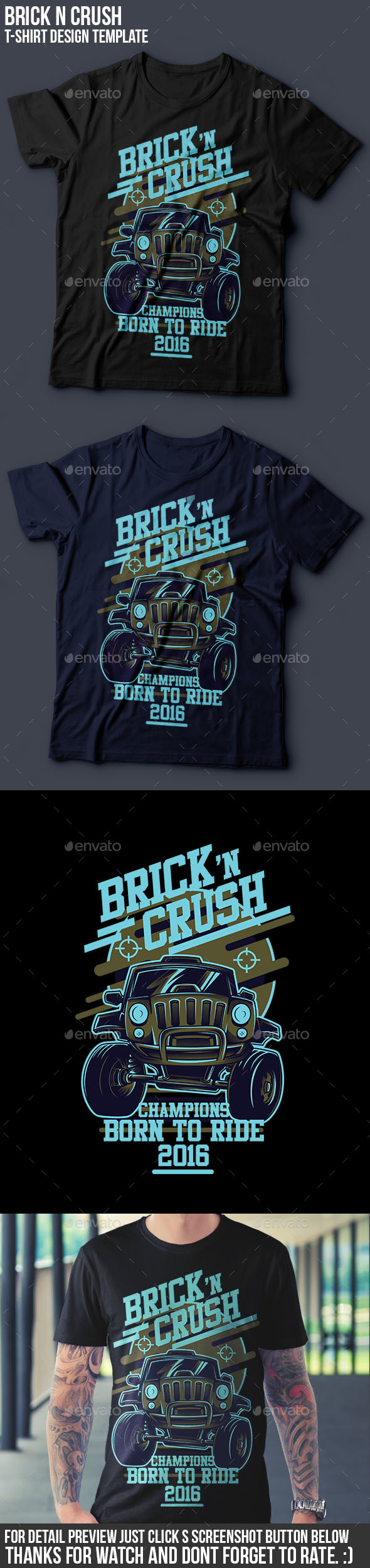 Brick n Crush T-Shirt Design - Events T-Shirts