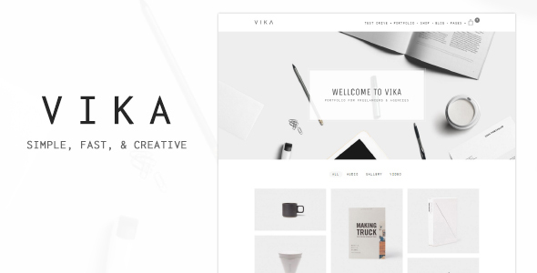 Vika – Portfolio for Freelancers & Agencies