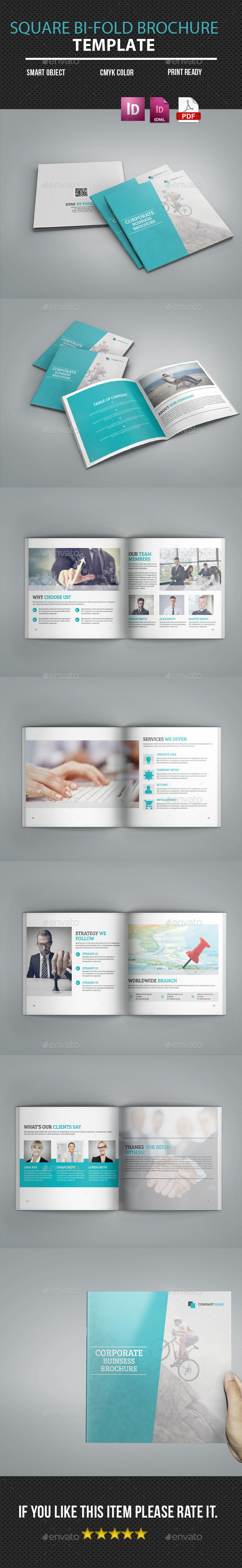 Square Bi-Fold Business Brochure - Corporate Brochures