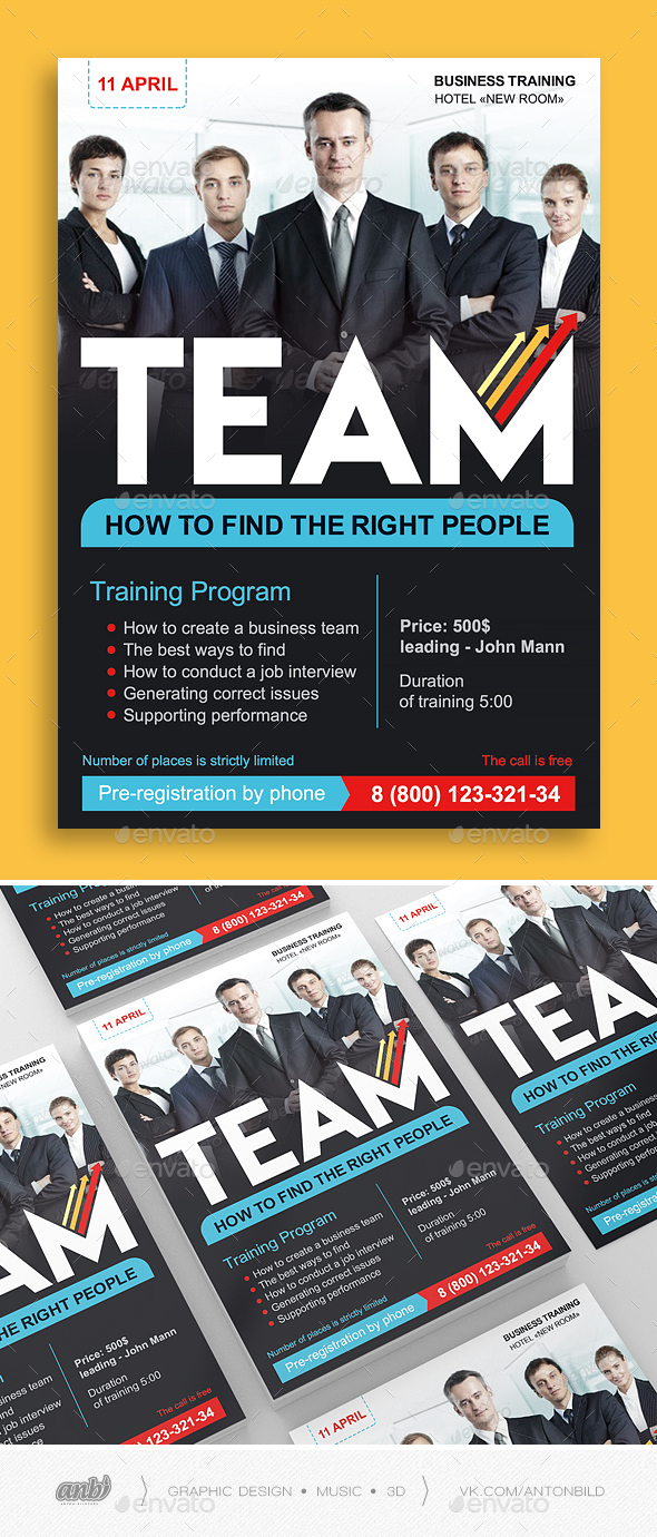 Team Business Training - Corporate Flyers