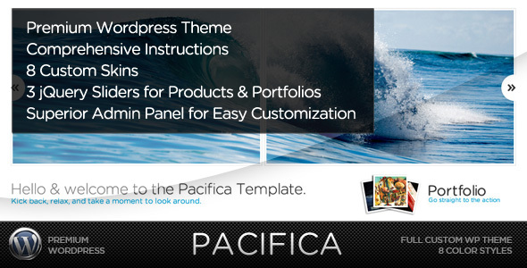 Pacifica WP - A Premium Wordpress Portfolio Theme - Creative WordPress