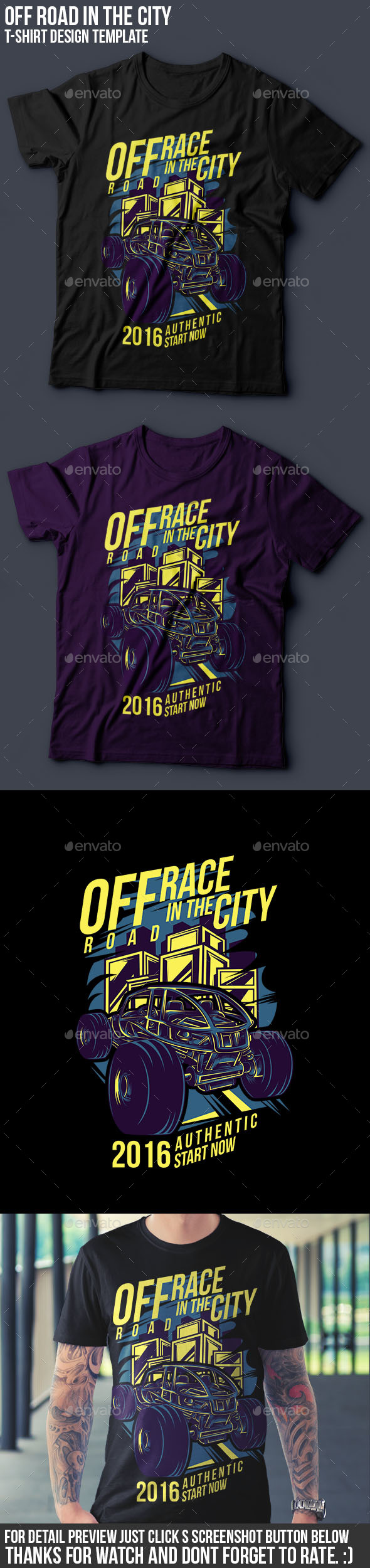 Off Road in the City T-Shirt Design - Events T-Shirts