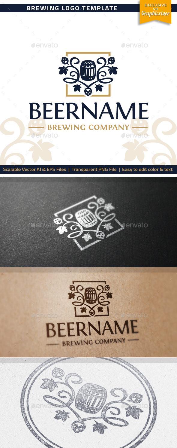 Brewing Logo - Food Logo Templates