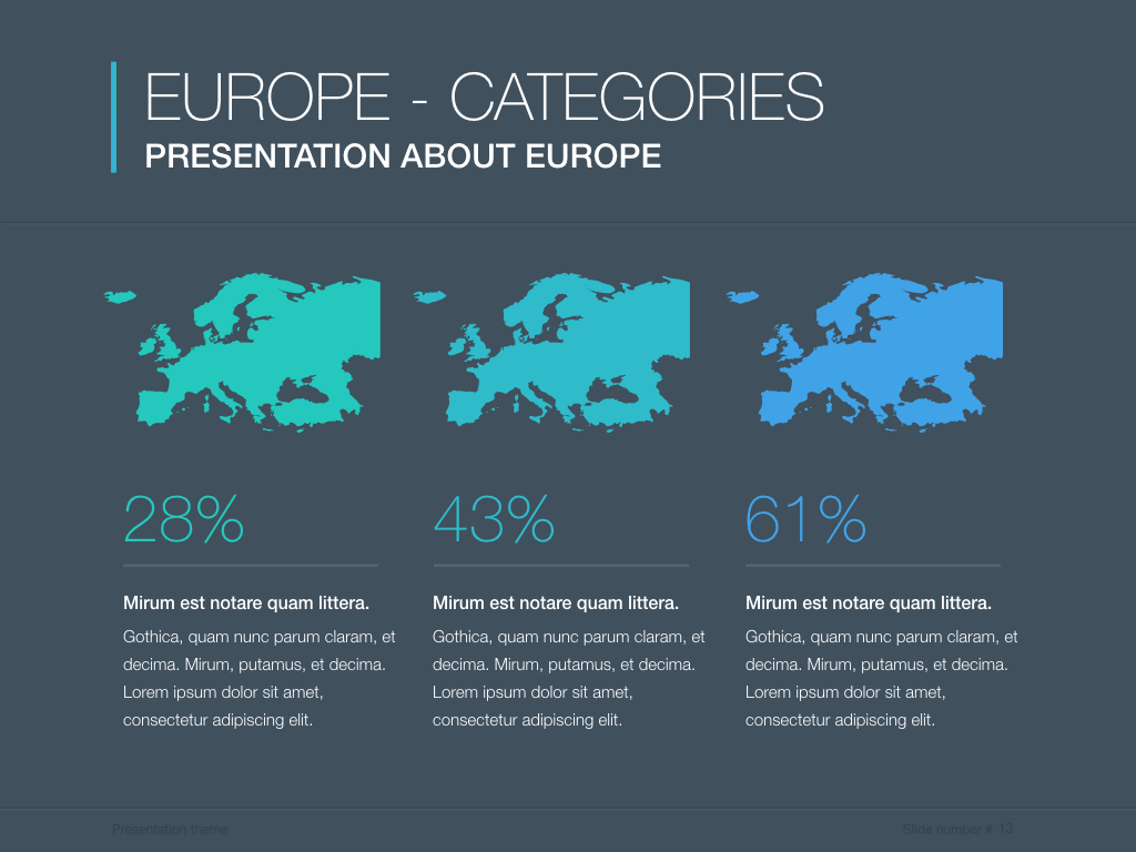 Continents Europe Powerpoint Template By Jumsoft Graphicriver