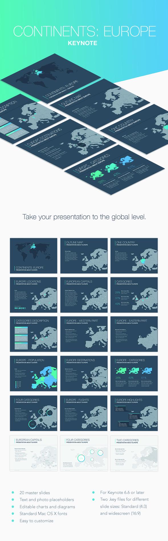 Continents: Oceania Keynote Template - Keynote Templates Presentation Templates