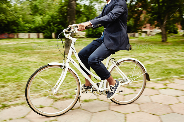 Riding on bicycle - Stock Photo - Images