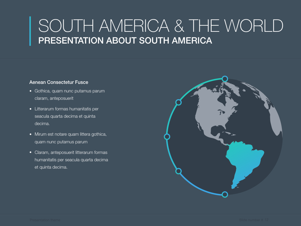 Continents south america powerpoint template by jumsoft graphicriver south america screenshots12previeweg toneelgroepblik Images