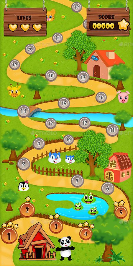 animal heroes game ui pack by s n k
