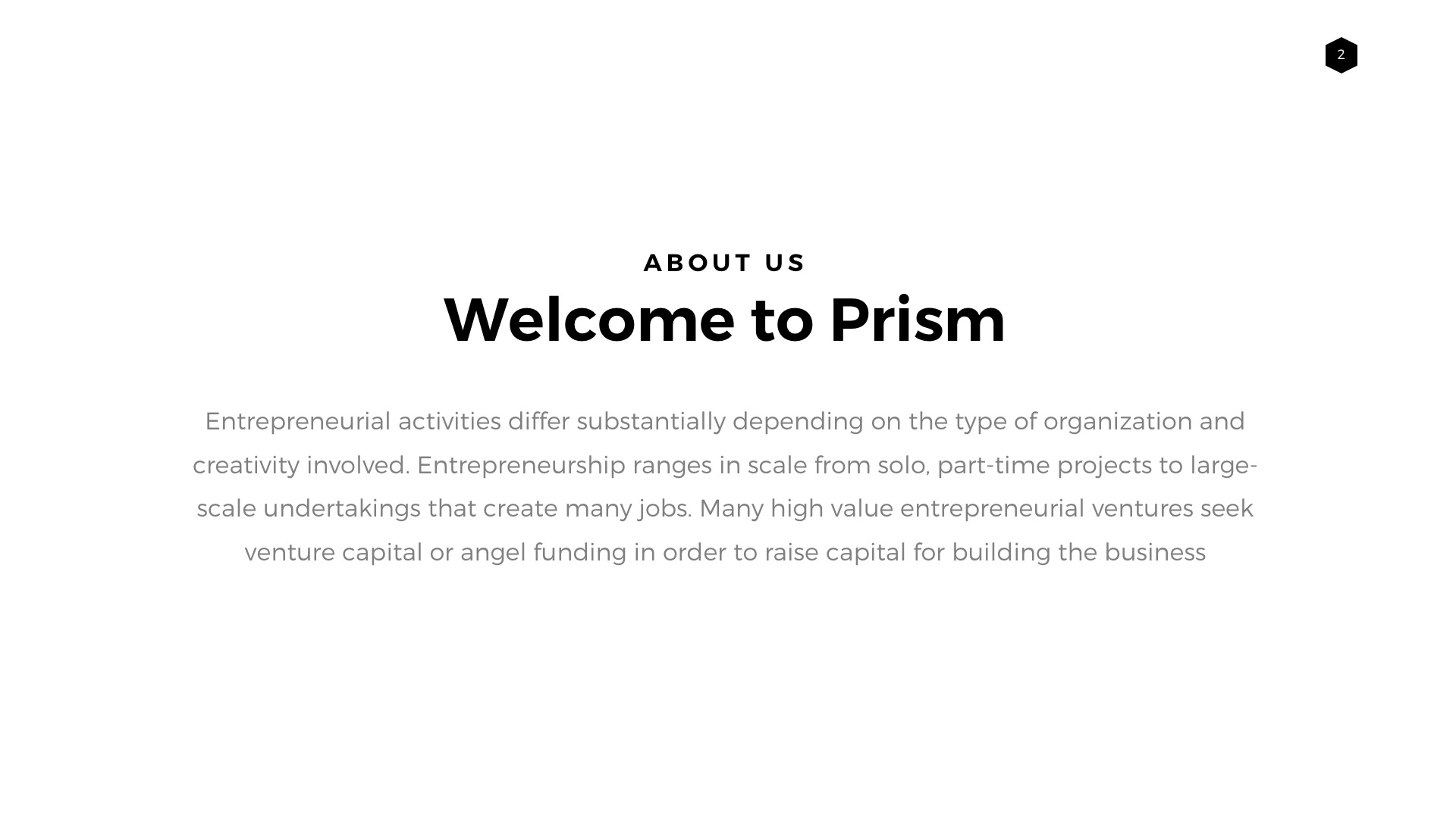 prism minimal powerpoint template builder by louistwelve design