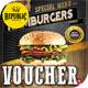 Hamburger Voucher Loyalty Card - GraphicRiver Item for Sale