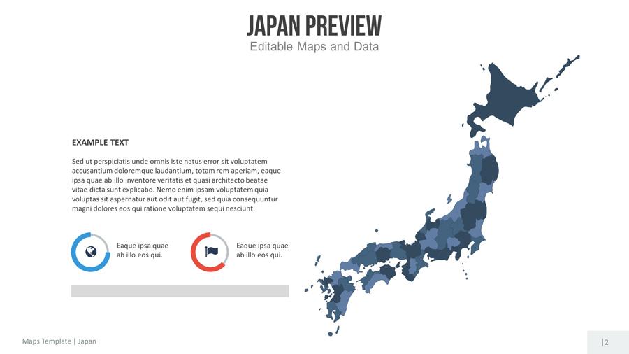 japan editable map presentation by slidekingdom graphicriver