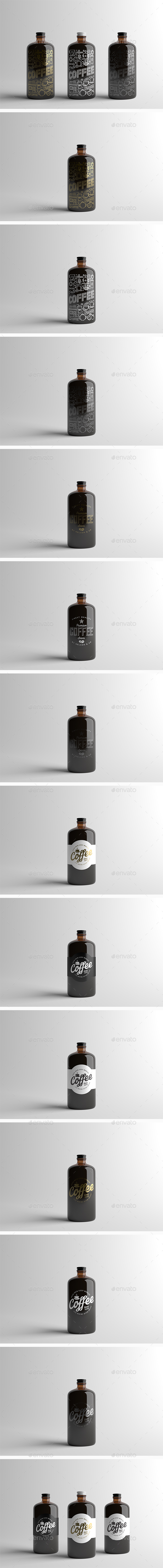 Coffee Bottle Packaging Mock-Up