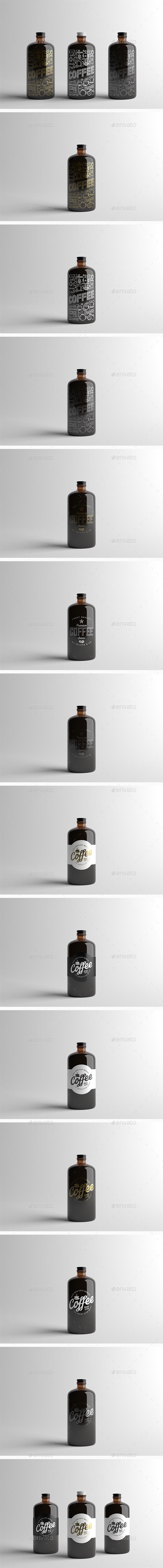 Coffee Bottle Packaging Mock-Up - Food and Drink Packaging