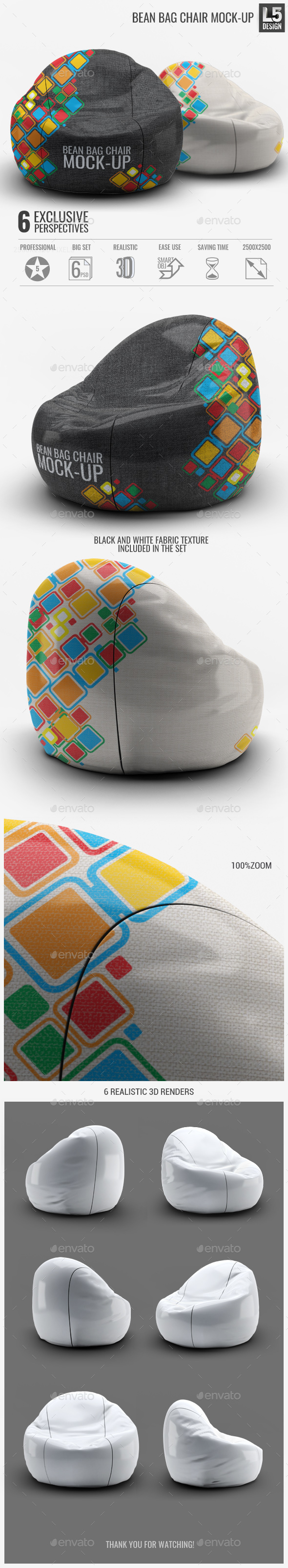Bean Bag Chair Mock-Up - Miscellaneous Product Mock-Ups
