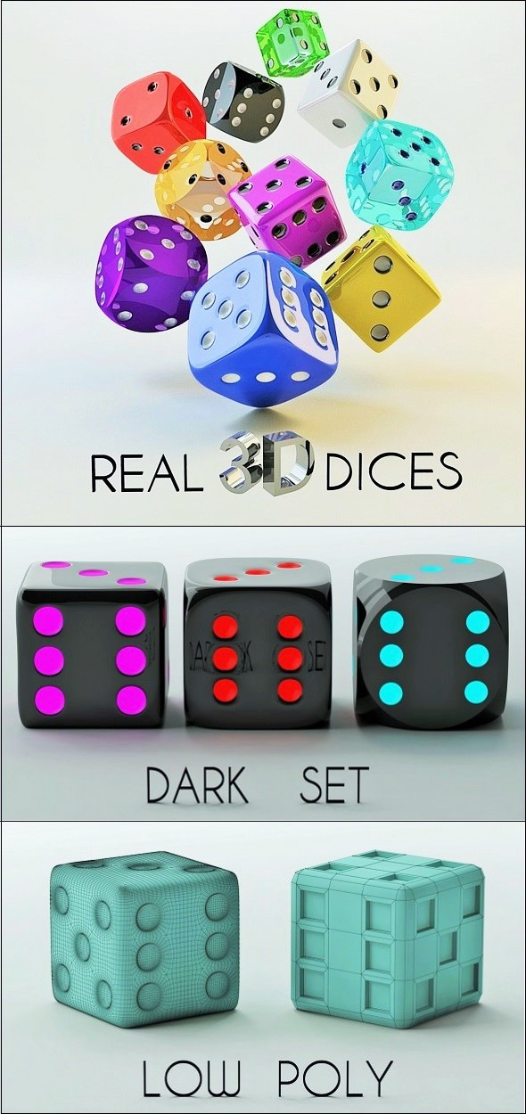 3D Dice Set - 3DOcean Item for Sale