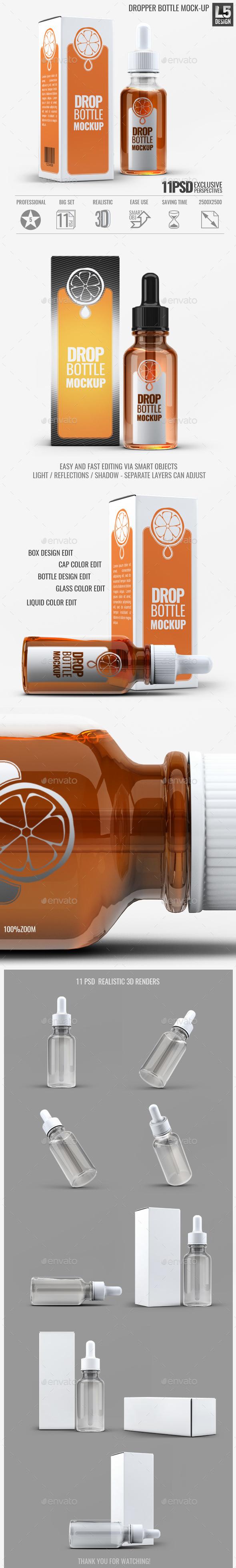 Dropper Bottle Mock-Up - Beauty Packaging