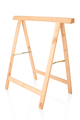 Sawhorse, DIY wooden tool isolated on white, clipping path inclu