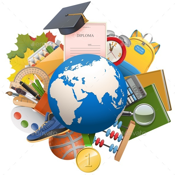 Vector Global Education Concept - Seasons/Holidays Conceptual