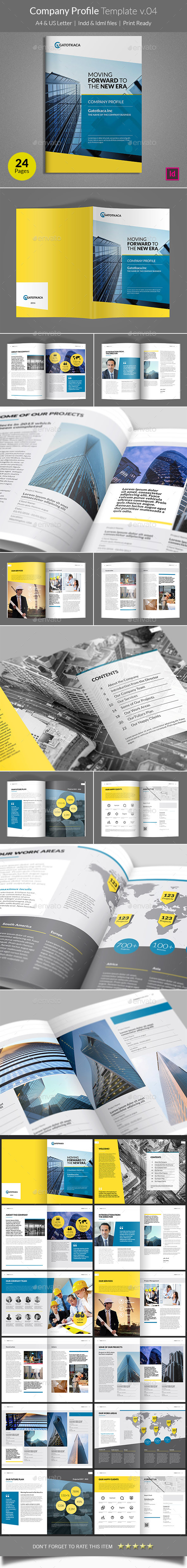 Company Profile Template v04 - Corporate Brochures