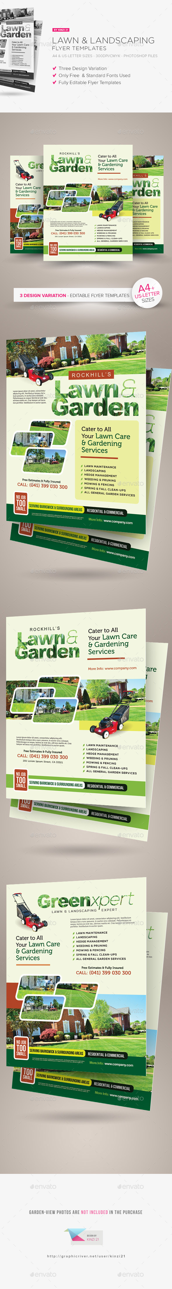 Lawn & Landscaping Flyer Templates - Corporate Flyers