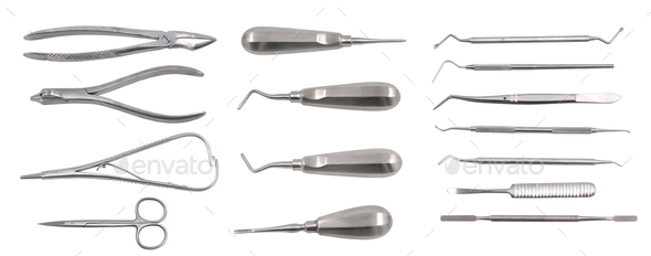 Complete set of dentist equipment - Stock Photo - Images