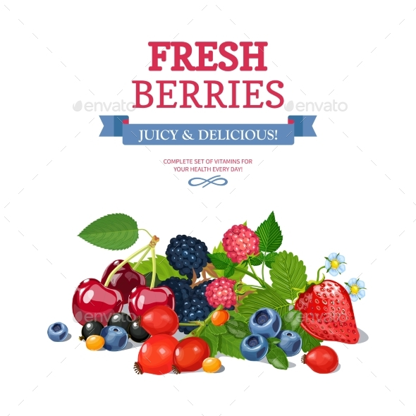 Fresh Berries Background Ad Background Poster  - Backgrounds Decorative