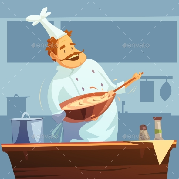 Cooking Workshop Illustration  - People Characters