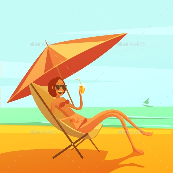 Rest At Sea Illustration - Travel Conceptual