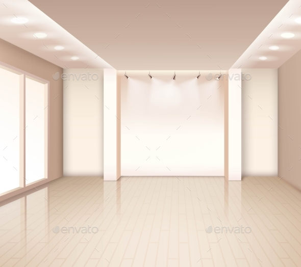Empty Modern Room Interior - Buildings Objects
