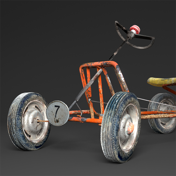 Pedal Go-Kart - 3DOcean Item for Sale
