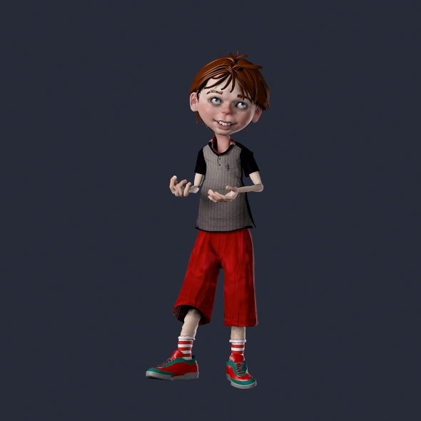 Rigged Animated Cartoon Boy - 3DOcean Item for Sale