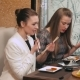 Girlfriends Having Lunch In a Restaurant - VideoHive Item for Sale