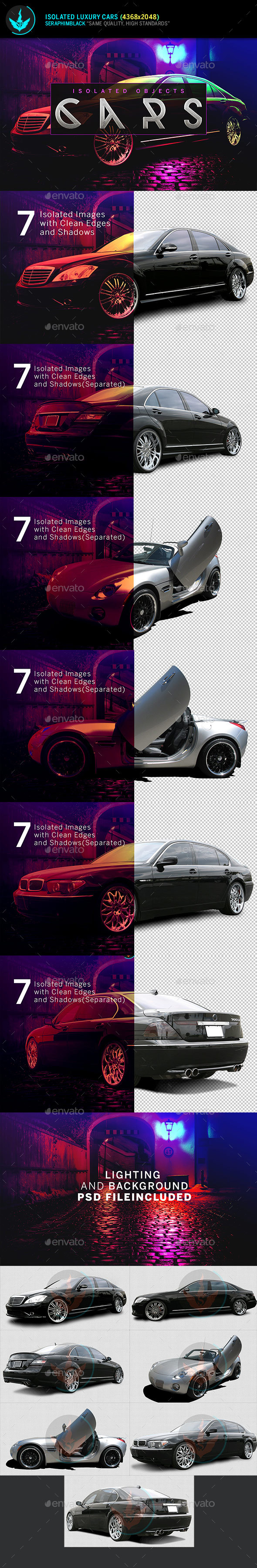 Isolated Luxury Cars - Isolated Objects